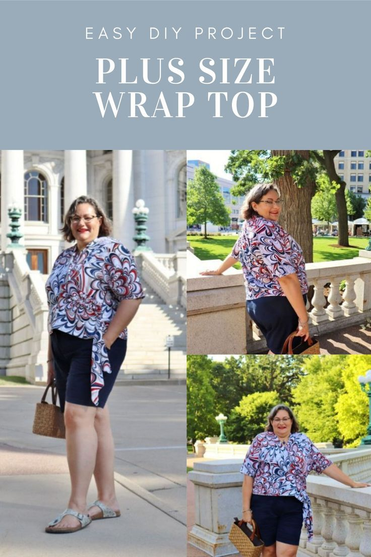 5 STEP PLUS SIZE WRAP TOP Sew a Plus Size Wrap Top in 5 Easy Steps  Chambray Blues