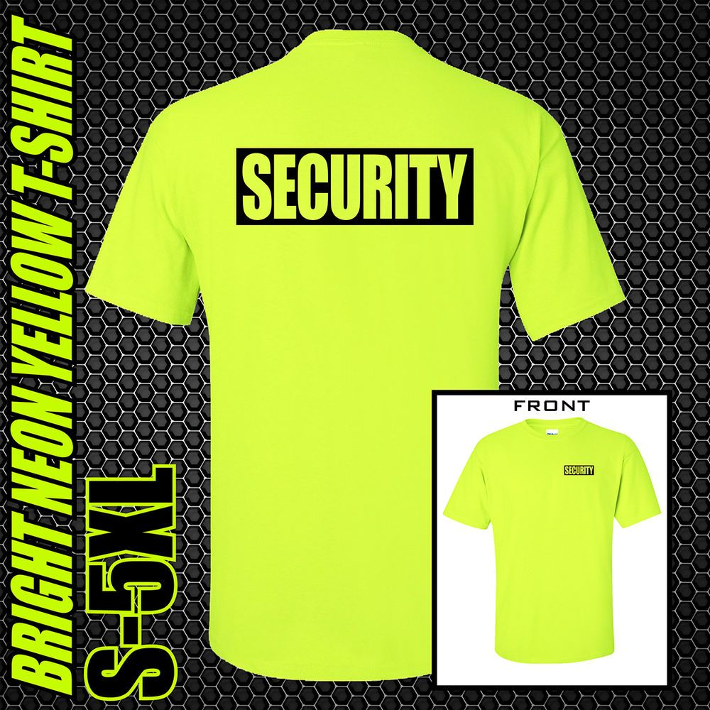 12 Colours Security Workwear Mens T-Shirt