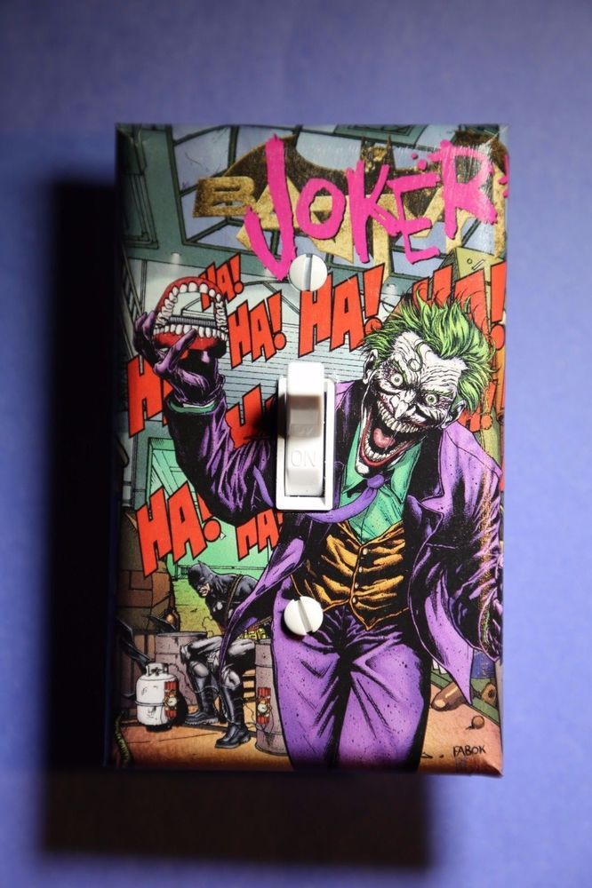Exceptionnel Joker Light Switch Cover Comic Book Room Home Decor Batman DC Cave Hahaha