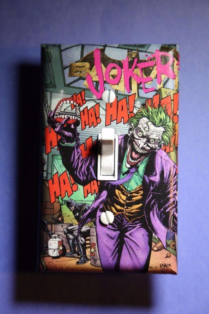 Joker Light Switch Cover Comic Book Room Home Decor Batman Dc Cave