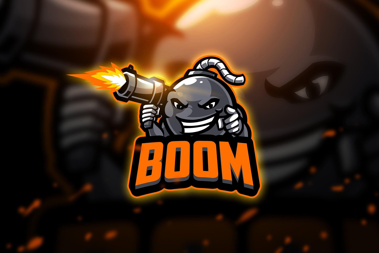 Boom 2 Mascot & Esport Logo by AQR Studio on