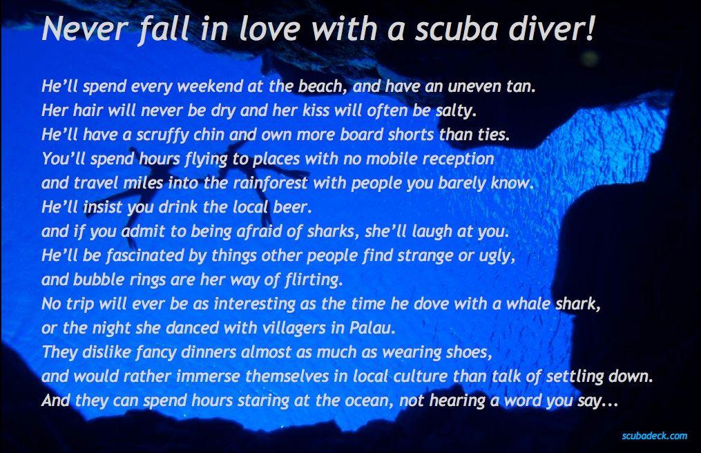 Never Fall in Love with a Scuba Diver - Scuba Deck