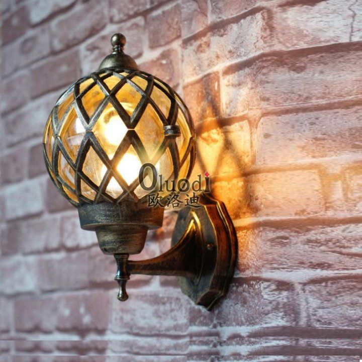 vintage outdoor wall lights photo 10