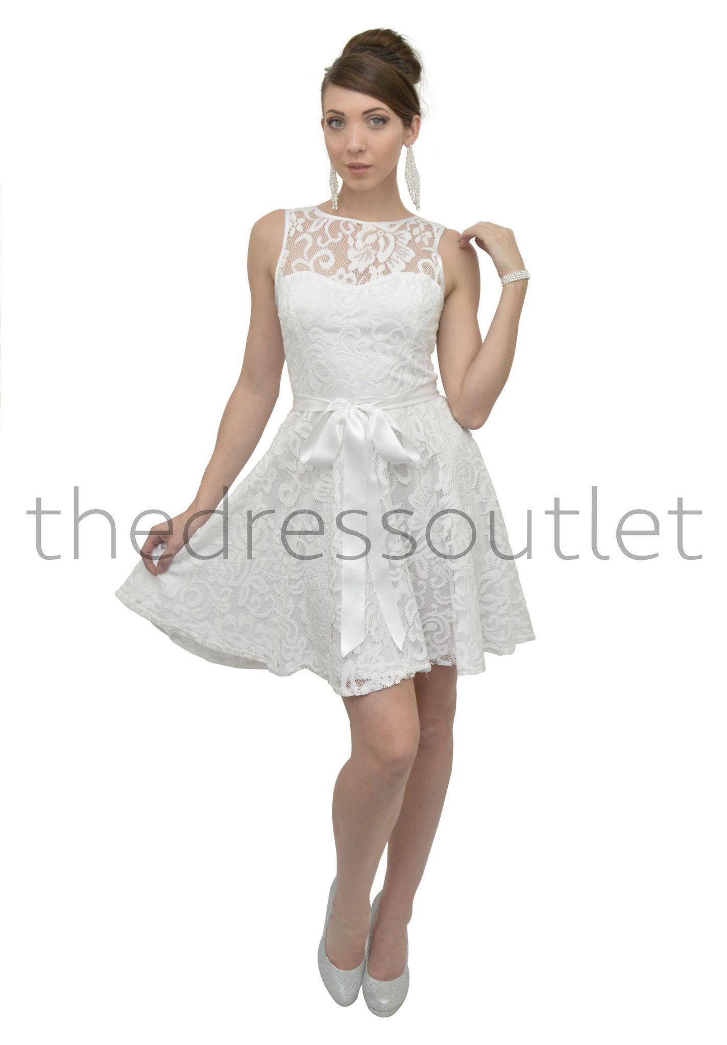 Short Formal Dress Lace Bridesmaids Plus Size