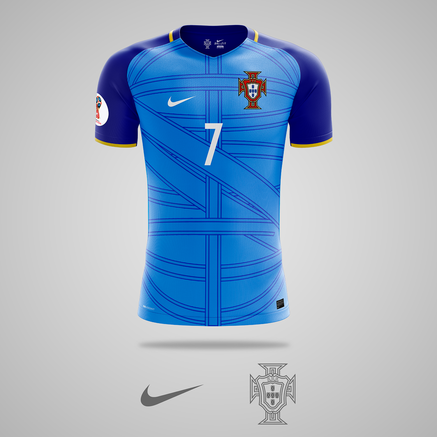 Portugal | Away Kit Concept | 2018 FIFA World Cup Russia | Thiết kế