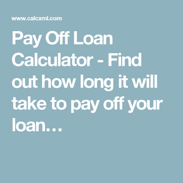 pay off loan calculator