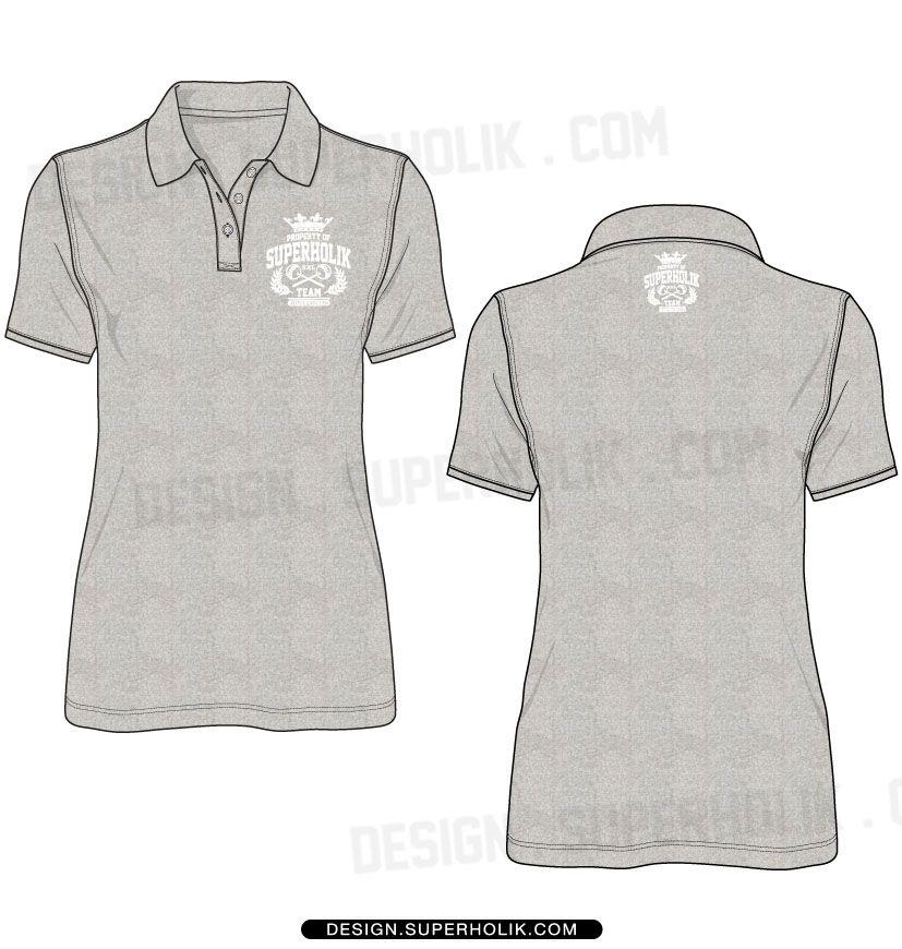 WomenS Polo Shirt Template  Fashion Vector Templates