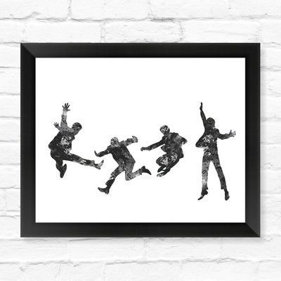 Dignovel Studios Beatles Watercolor Framed Graphic Art Size:
