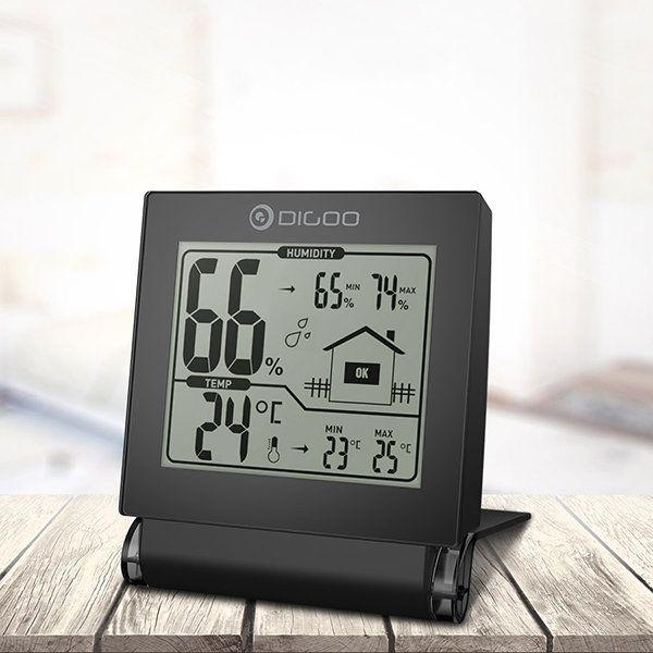 Captivating Digoo DG TH1117 Home Comfort Foldable Mini Collapsible Digital Indoor  Hygrometer Temperature Monitor