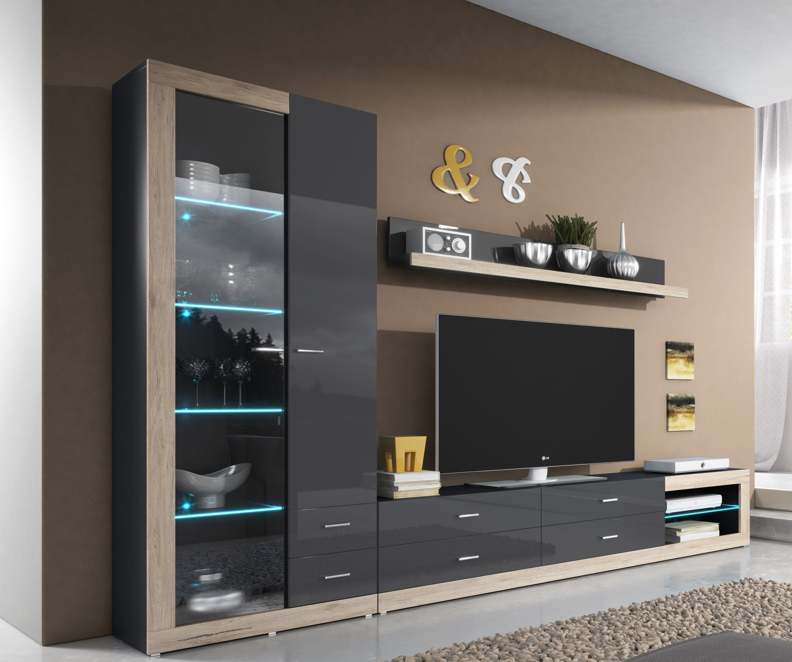 Wall Unit Tessa 2 Modern Tv Wall Units Living Room Wall Units Wall Cabinets Living Room