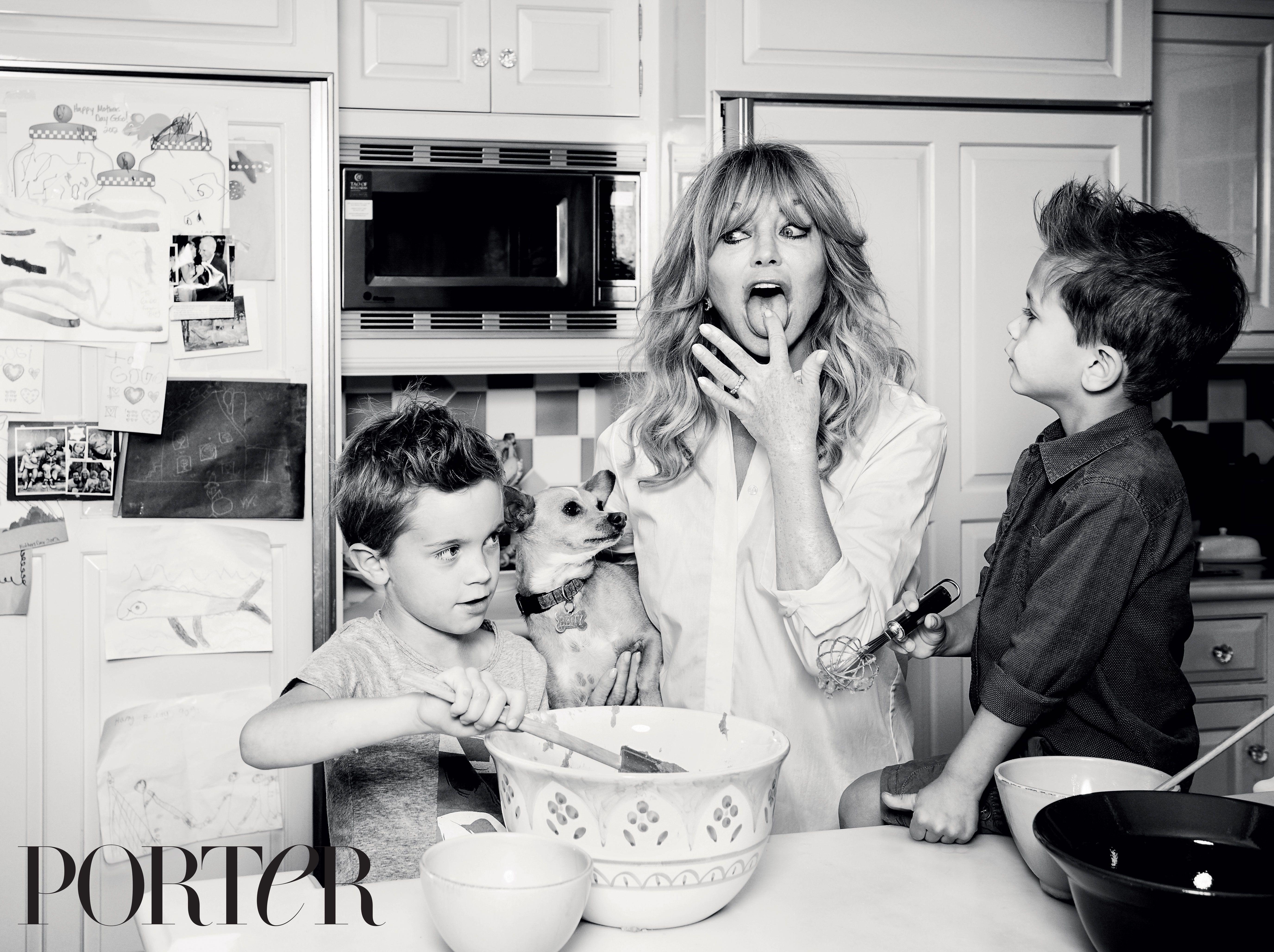 Goldie Hawn for PORTER Magazine.