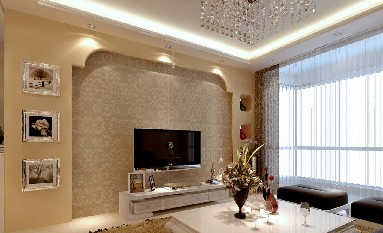 Latest wall design for living room tv wall pinterest for Latest living room ideas