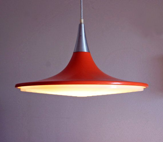 Retro Danish Hanging Lamp Mid Century Modern By Oldandcold 250 00