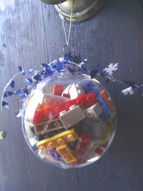 LEGO Filled Ornament  Valentines Gifts  Geeky by TheSugarForest, $8.99