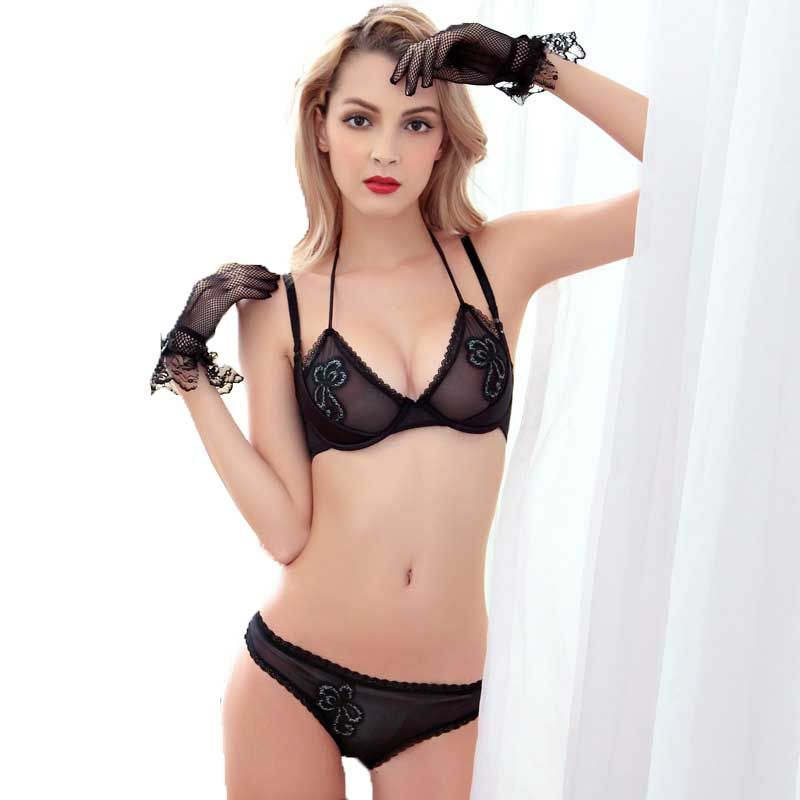 4c0a4cefd01 Lace Embroidery Women Bra Set Underwear Push Up Bra Panty Set For Young  Girls