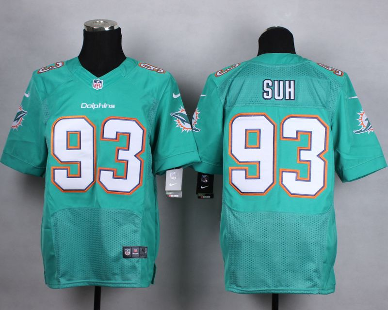 official photos 96b16 99c2e NFL Customize Miami Dolphins 93 suh green Men Nike Elite ...
