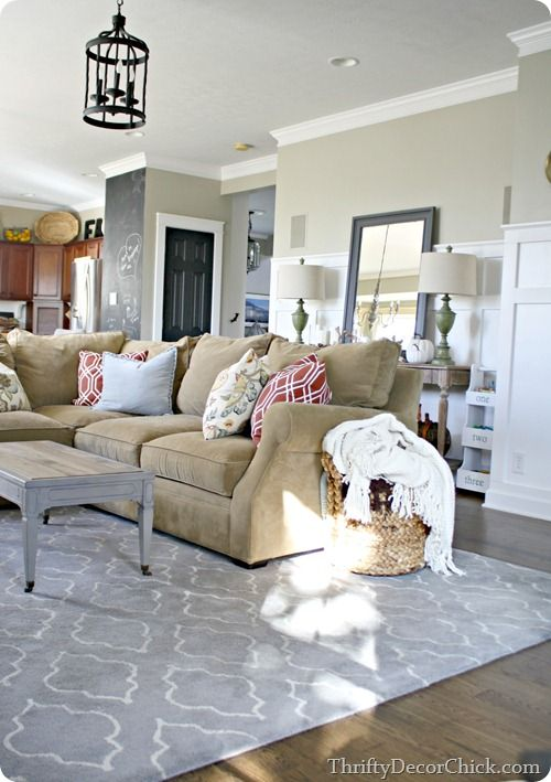 tan couch living room decor photos of dividers thrifty chick inspiration pinterest family reno sisal na10 ralph lauren ideas