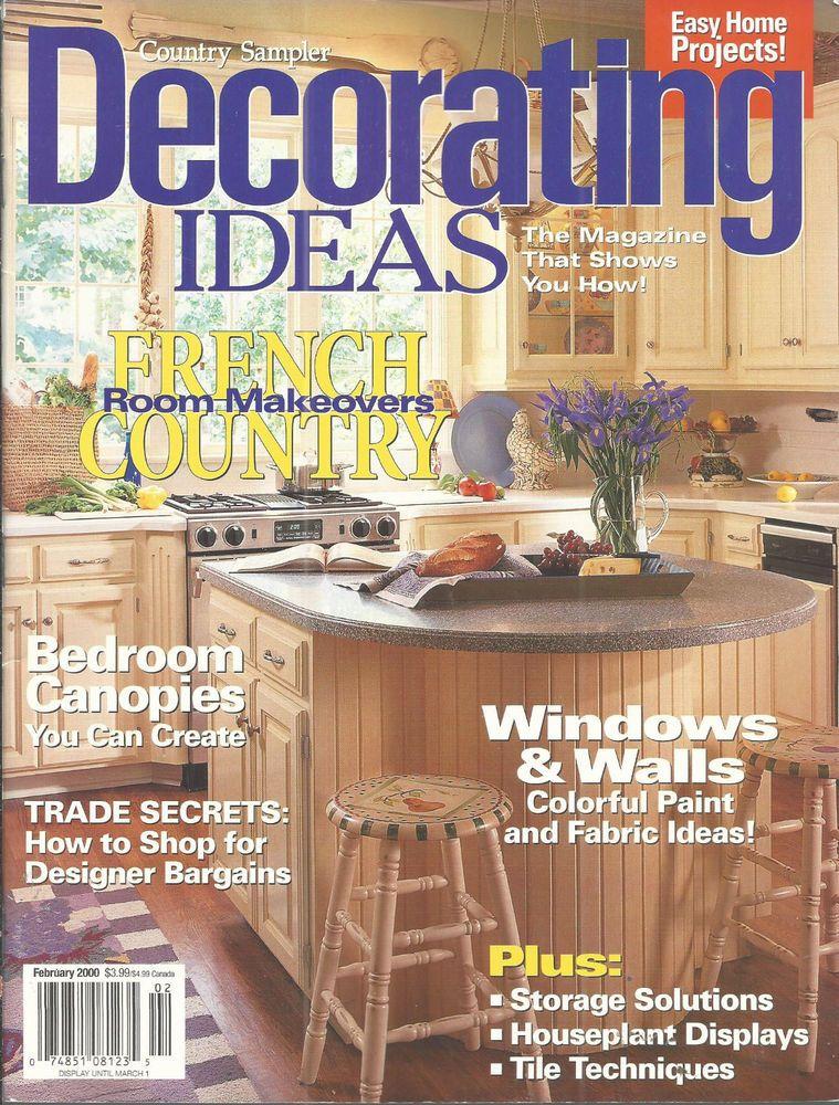 Country Sampler Magazine February 2000 Decorating Ideas ...