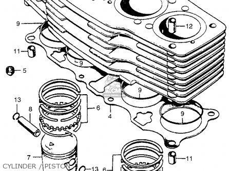 Honda Cb750 Four K5 1975 Usa Cylinder Piston