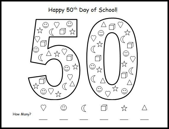 50th day of school math activity Holiday Crafts Pinterest - color chart template