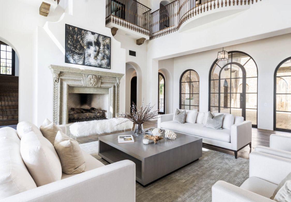 Best Restoration Hardware Inspired Beige And White Living Room 400 x 300