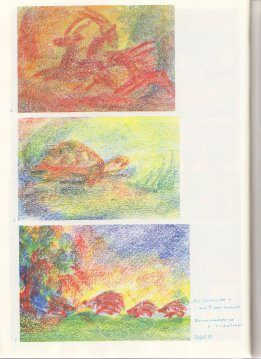 Crayon drawings