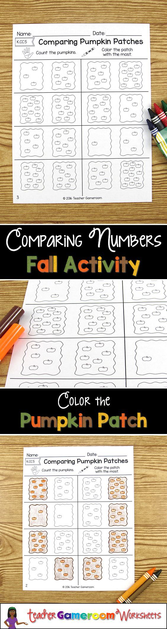 Comparing pumpkin patches math worksheets k6 robcynllc Choice Image