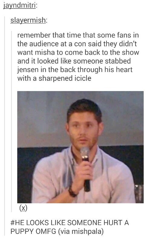 This is so sad! I can't believe there are people who don't like Misha. How is that possible?