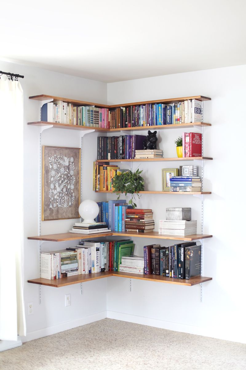 Make Your Own Bedroom Furniture Build Organize A Corner Shelving System Beautiful Corner