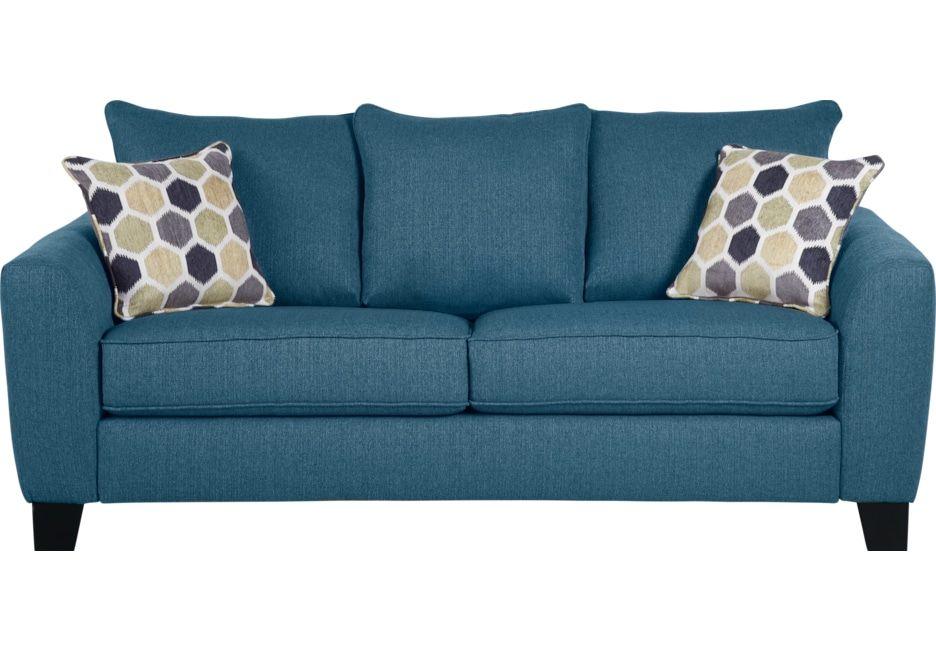 Bonita Springs Blue Sofa Blue Sleeper Sofa Rooms To Go