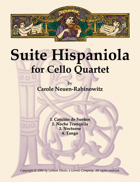 Suite Hispaniola For Cello Quartet Sheet Music Download
