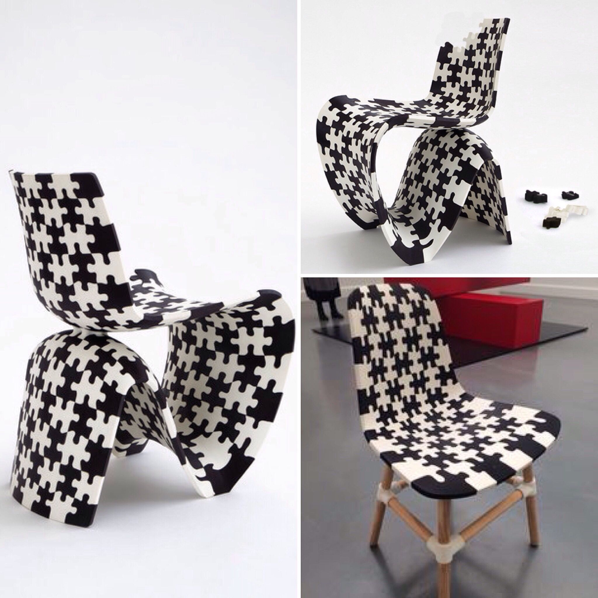 3D geprint puzzele chair van Joris Laarman.