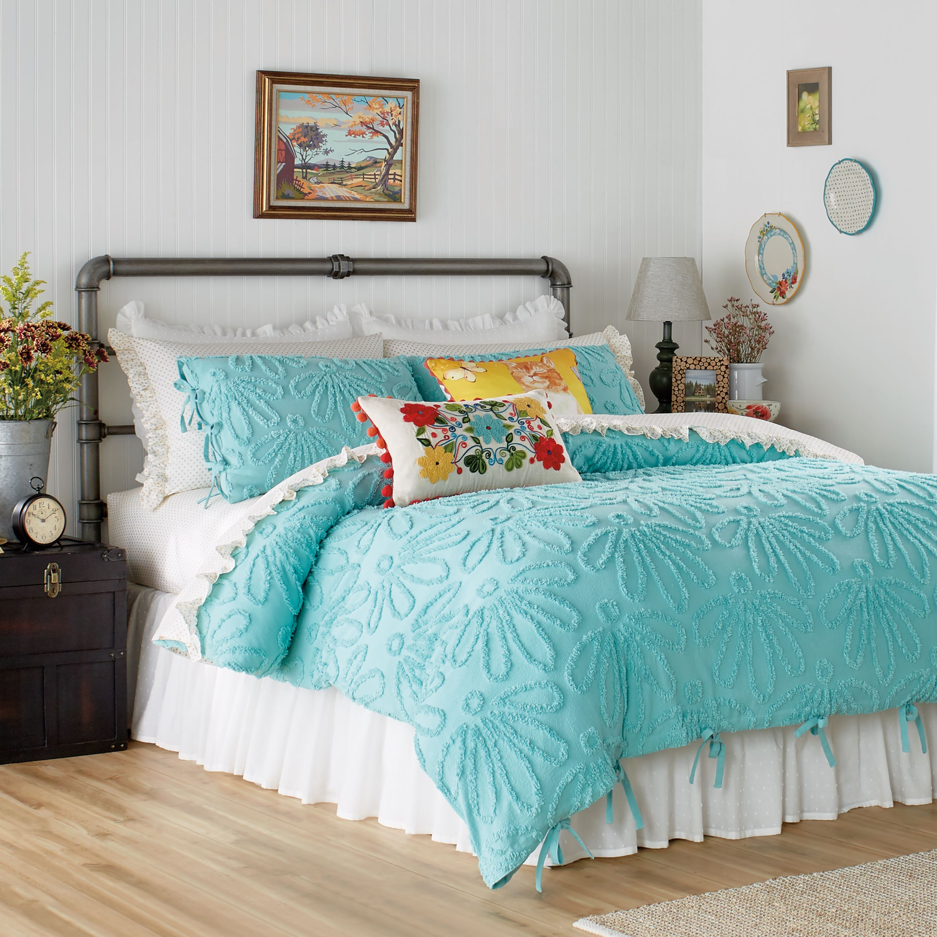 Walmart Bedding Sets Full.The Pioneer Woman Country Chenille Duvet Set Full Queen