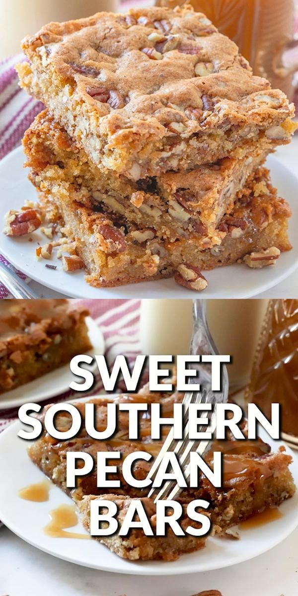SOUTHERN PECAN CAKE BARS