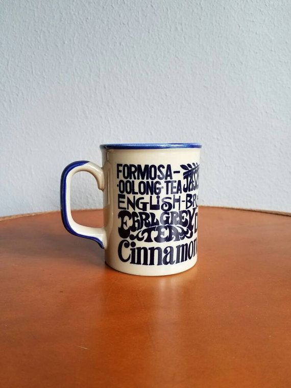 Vintage Whats Your Cup of Tea 70s Mug by heightofvintage on Etsy