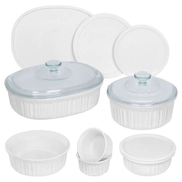 CorningWare French White 12 Piece Set Round & Oval Oven To Table ...