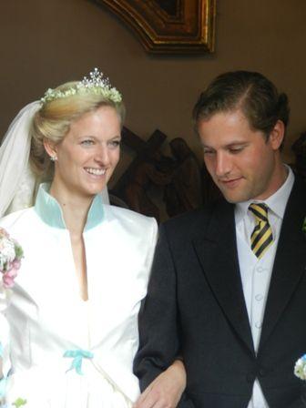 WEDDING  OF  PRINCESS THERESA OF LÖWENSTEIN-WERTHEIM-ROSENBERG  AND  MR.JÜRGEN HAYESSEN