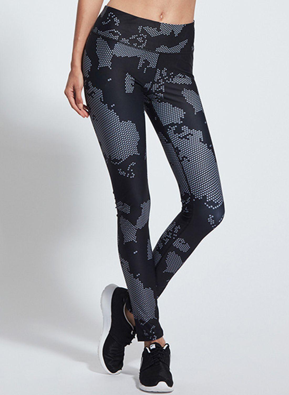 f3c318e4daa High Waist Polka Dot Printed Skinny Sports Leggings - OASAP.com ...