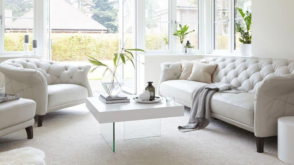 Large Modern Three Seater Leather Sofa Uk Delivery