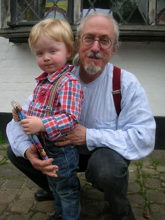 Page's grandson Griffen with Charlotte Martin's husband, Ernest.: