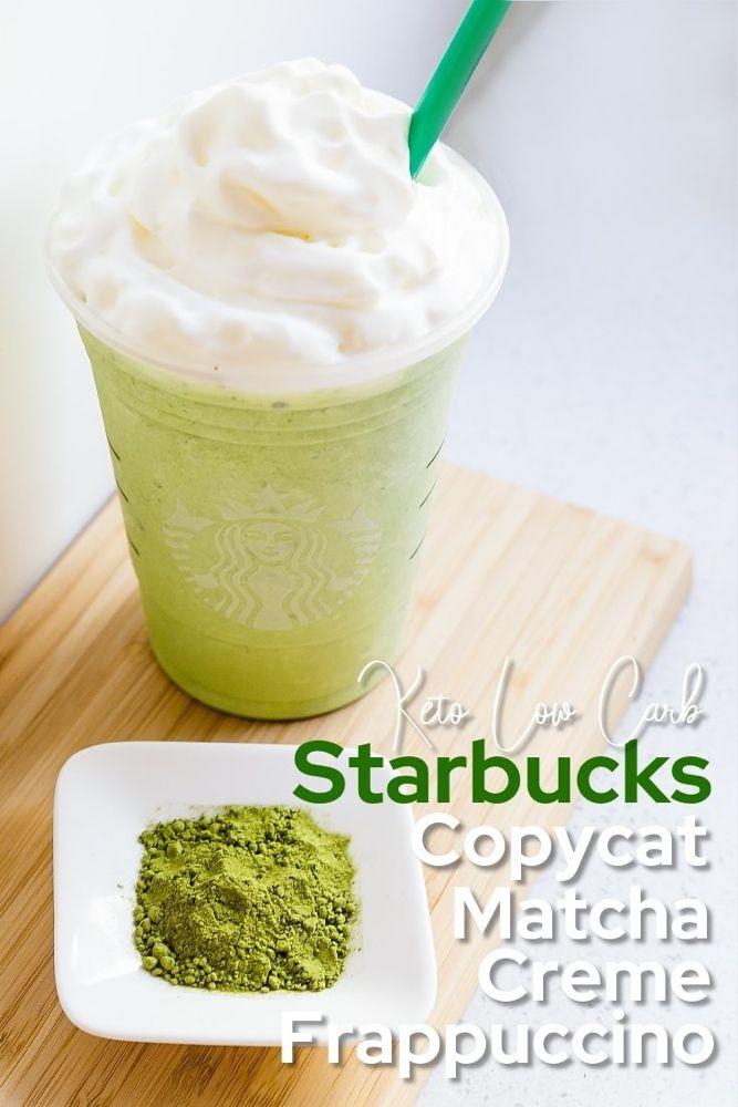 Keto Starbucks Copycat Matcha Creme Frappuccino | LowCarbingAsian