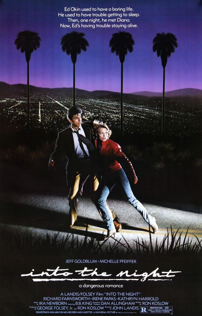 INTO the night MOVIE poster PFEIFFER /& GOLDBLUM dangerous romance hot 24X36