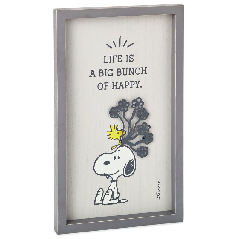 Peanuts Snoopy And Woodstock Bunch Of Happy Framed Wall Art 7x11 75 In 2020 Framed Wall Art Peanuts Decor Snoopy And Woodstock
