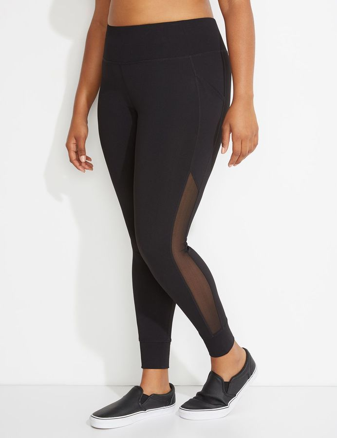 a8e5ac92ff0 Lane Bryant Wicking Mesh-Spliced Active Legging | Products | Pants ...