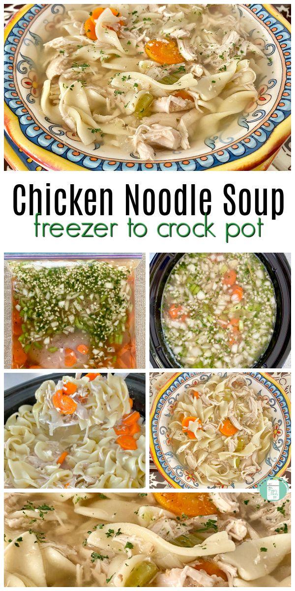 freezer to crock pot chicken noodle soup  chicken freezer