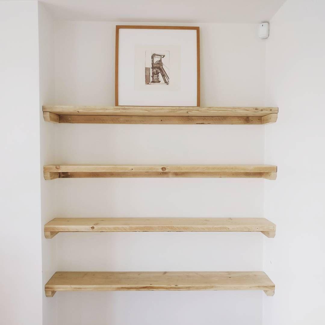 Bespoke Scaffold Board Shelves Made