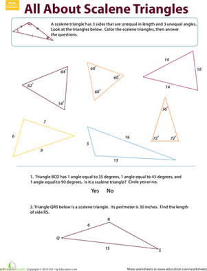 Identifying Triangles: Acute Triangles   Triangles, Articles and ...