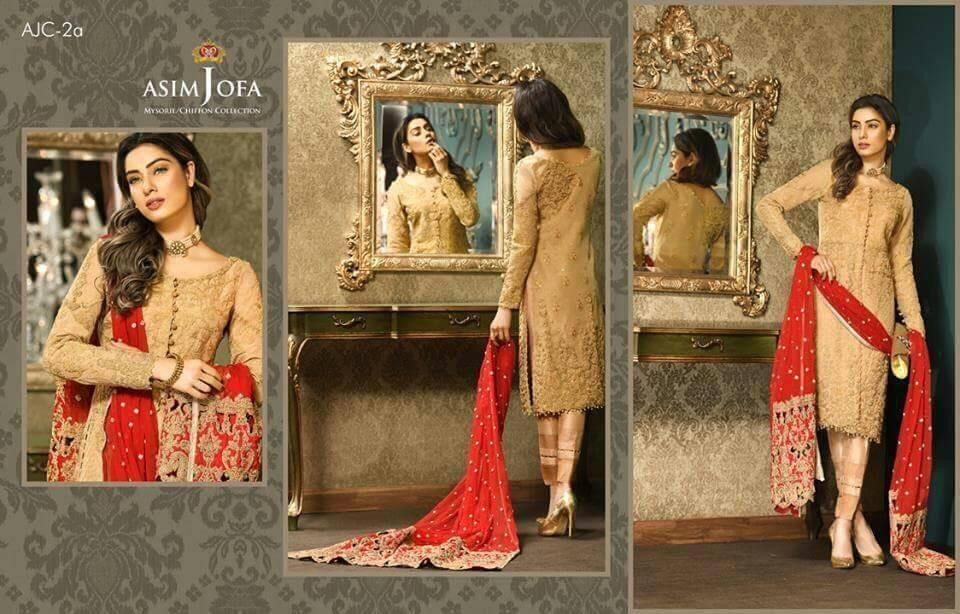 26c5155683 Buy Asim Jofa Designer Dress in Chiffon Tilla , Dari & Cut Work Designer  Dress Online at Nameera by Farooq, Visit Now : www.NameerabyFarooq.com or  Call ...
