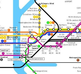War of Yesterday: Making a Subway Map VI Post about confusing ... Queens Subway Map on