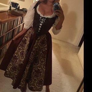 renaissance festival corset bodiceyour choice any color